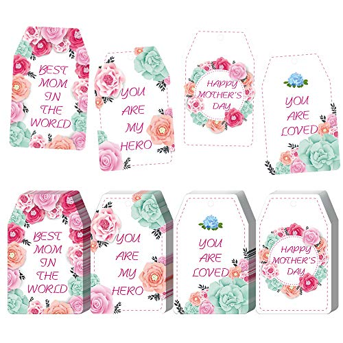 40pcs Happy Mother's Day Gift Tags – Party Decoration Craft Hang Paper Tags for Moth ...