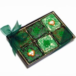 St. Patrick's Day Gold Box of 12 Belgian Chocolate Grahams