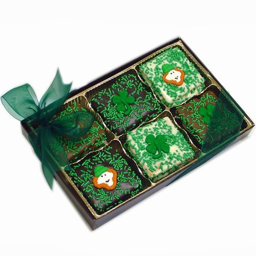St. Patrick's Day Gold Box of 12 Belgian Chocolate Grahams