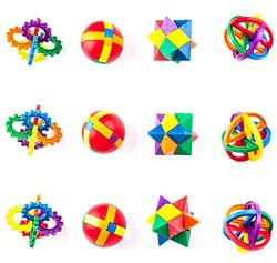 Vlish 12 Pack- Fun Puzzle Balls, Party Favors, Goody Bags, Christmas Stocking Stuffers, Easter B ...