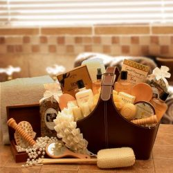 Grand Luxury Spa Gift Tote for Her w/ Potpourri and Herbal Tea