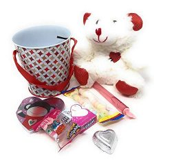 P2P White Bear Gift Set Valentine's Day (1) 5 Inch White Teddy Bear (1) Valentine's  ...