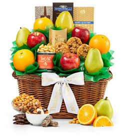GiftTree Thinking Of You Five Star Fruit Gift Basket | Fresh Fruit Includes Pears, Apples and Or ...