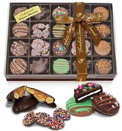 Premium Belgian Chocolate Covered OREO Cookies, Caramel Almond Clusters, Nonpareils Gift Box | G ...