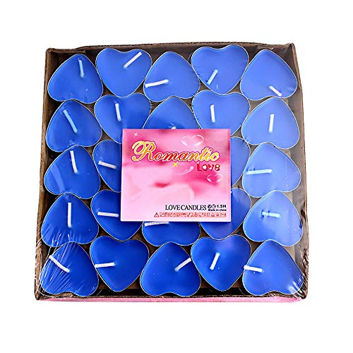 Candl – 50pcs Romantic Heart Shape Wedding Party Birthday Fragrance Scented Candles Decor  ...