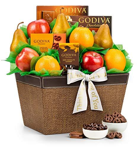 GiftTree Thinking Of You Fresh Fruit and Godiva Chocolates Gift Basket| Includes Gourmet Chocola ...