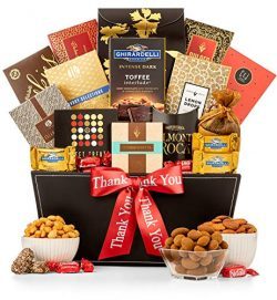 GiftTree Thank You Grand Reception Gift Basket | Ghirardelli Chocolate, Classic Candies, Tropica ...
