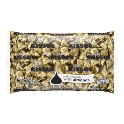 HERSHEY'S KISSES Easter Chocolates with Almonds Gold Foil, 66.7 Ounce Bulk Bag