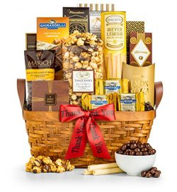 GiftTree Thank You As Good As Gold Gourmet Food & Snack Gift Basket| Includes Almond Roca, S ...