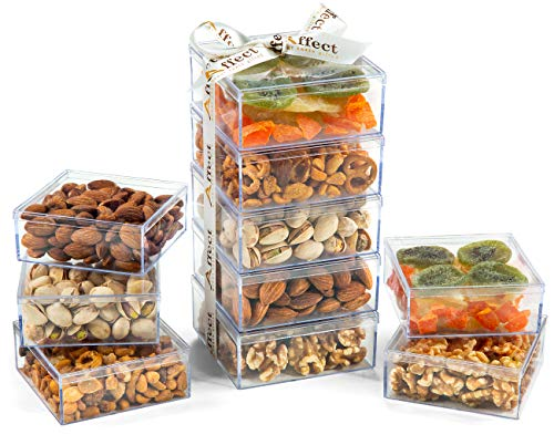 Natko Gourmet Gift Set of 5 Acrylic Containers | Healthy Snacks for Dad, Mom & Children | Mi ...