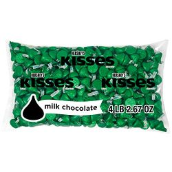 HERSHEY'S KISSES St Patricks Day Chocolates Candy Green Foil, 66.7 Ounce Bulk Bag