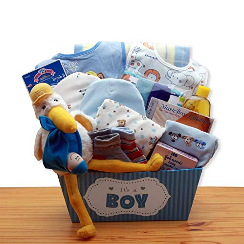 A Special Delivery New Baby Gift Basket – Blue