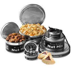 Oh! Nuts Purim Shalach Manot Tin Tower Gift with Hamantachen