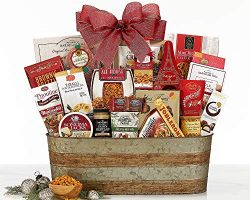 Party Pick Gourmet Food Gift Basket With Ribbon. It's A Party In a Bag.