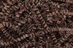 Crinkle Cut Paper Shred Filler (1/2 LB) for Gift Wrapping & Basket Filling – Chocolate ...