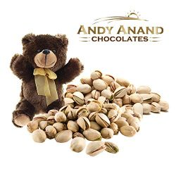 Andy Anand Chocolates- Premium California Organic Pistachios with light Sea Salt in a Premium Gi ...