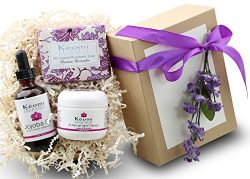 LAVENDER & ROSE ORGANIC BATH & BODY GIFT SET – Pamper Them w/All Natural Luxury! & ...