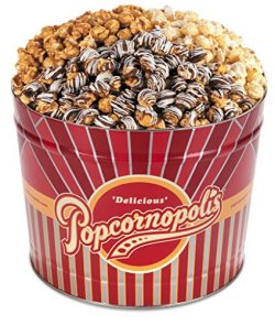Popcornopolis Gourmet Popcorn 2 Gallon Tin – Premium