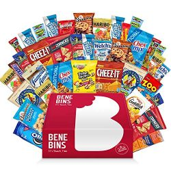 Variety Snack Care Package Cookie Chips & Candies Bundle (40 Premium Package)