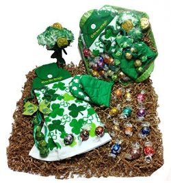 St. Patricks Day Kitchen Gift Basket – Lindt Gourmet Lindor Chocolate Truffles Chocolate C ...