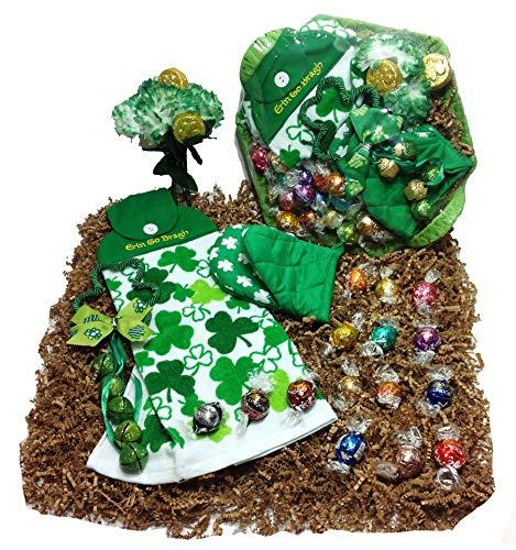 St. Patricks Day Kitchen Gift Basket – Lindt Gourmet Lindor Chocolate Truffles Chocolate C ...