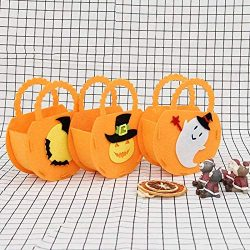 Party Diy Decorations – 3pcs Style Halloween Candy Gift Bag Pumpkin Basket Ghost Holiday D ...