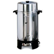 West Bend 33600 Highly Polished Aluminum Commercial Coffee Urn Features Automatic Temperature Co ...