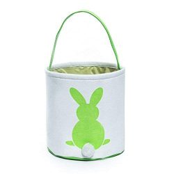 GWELL Easter Bunny Basket, Foldable Gift Basket Bucket for Kids, DIY Gifts, Egg Hunt, Candies, G ...