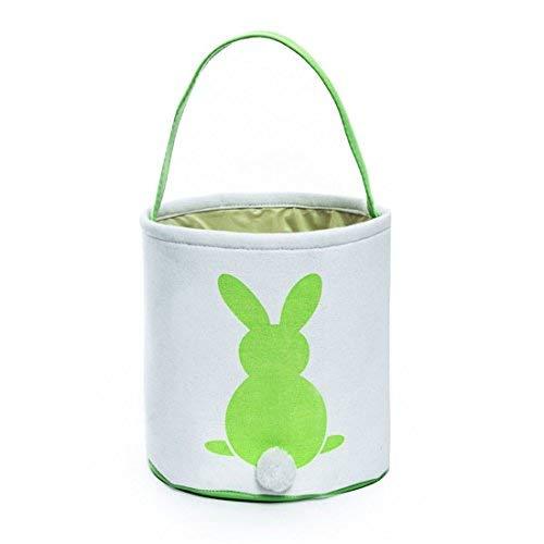 GWELL Easter Bunny Basket, Foldable Gift Basket Bucket for Kids, DIY Gifts, Egg Hunt, Candies, G ...