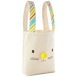 Hallmark Large Easter Canvas Bag (Ivory, Bunny Ears)