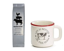 Cow Coffee Mug and Barnyard Coffee Gift Set – Life is Better on the Farm Cow Red Rim Mug C ...