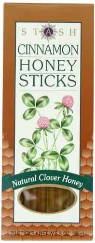 Stash Tea Cinnamon Honey Sticks 20 Count Sticks (3 Ounces) Individually Sealed Portable Honey Tu ...