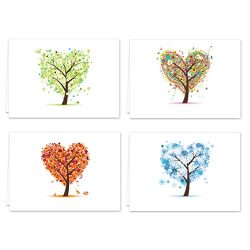 Seasons of Life Note Card Assortment Pack – Set of 24 cards – 4 designs blank inside ...