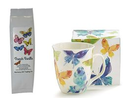 Butterfly Coffee Mug and Coffee Gift Set – Watercolor Butterfly Mug Cup with Butterflies F ...