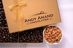Andy Anand's Dark Chocolate covered Almonds 1 lbs, & Greeting Card, for Birthday, Valentine  ...