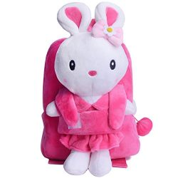 Easter Bunny Rabbit Plush Kid's Backpack Shoulder Bags Christmas Gifts for Kids Under 5 Ye ...
