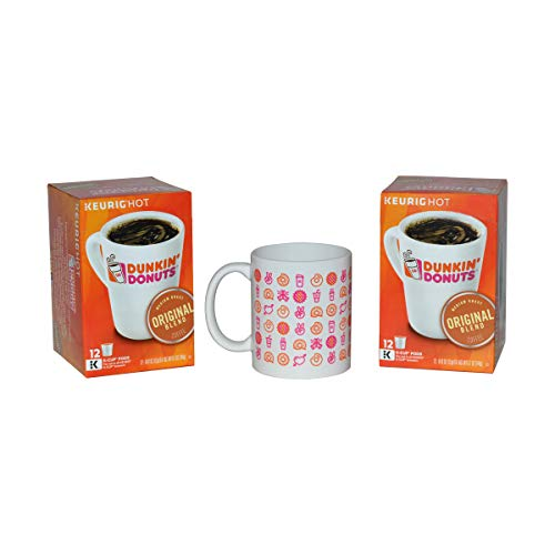 Dunkin' Donuts Gourmet Coffee & Mug Prepackaged Gift Box – Includes Collectable Dunkin ...