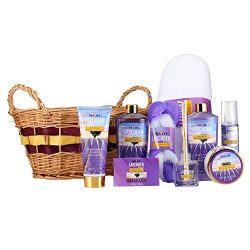 "Large Luxury ""Complete Spa at Home Experience"" Gift Basket by Draizee – #1 Best Gift for Valenti ..."
