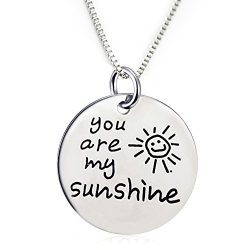 You Are My Sunshine Pendant Necklace (18″ chain included)