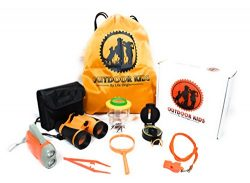 Outdoor Toys for Kids Adventure Kids Outside Children Exploration Kit Binoculars Flashlight Comp ...