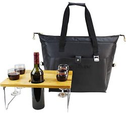 40 Cans Waterproof Insulated Cooler Bag, Large Lunch Tote for Picnic as Wine Carrier or Shopping ...