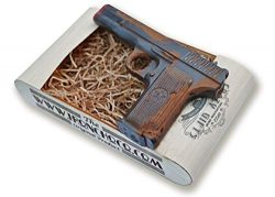 IronChoco Chocolate Pistol Real Size Solid in Handmade Gift Box – Holiday, Sympathy, Birth ...