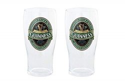 Guinness Green Collection Pint Glasses, 20 Ounce, Set of 2 – Beer Glass for Bar and Kitchen