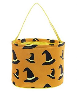 E-FirstFeeling Halloween Candy Bags Trick or Treat Bags Halloween Basket Goody Gift Bucket (Witc ...