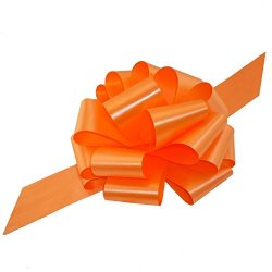 Large Orange Pull Bows – 9″ Wide, Set of 6, Bows for Gifts, Easter, Halloween Decor, ...
