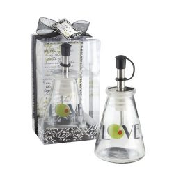 Olive You! Glass LOVE Oil Bottle in Signature Tuscan Box