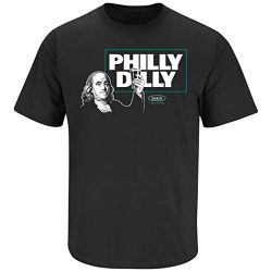 Philadelphia Football Fans. Philly Dilly T-Shirt (Sm-5X) (Black Short Sleeve, Large)