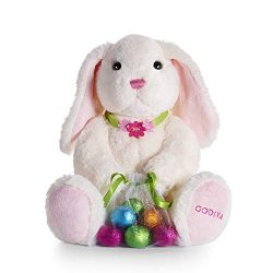 Godiva Chocolatier Limited-Edition 2019 Easter Plush Bunny with Chocolate Foil Eggs, Easter Bask ...