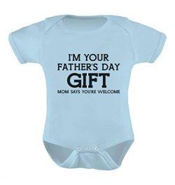 TeeStars – I'm Your Mom Says Welcome – Funny Cute Baby Bodysuit Newborn Aqua