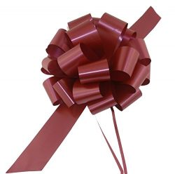 Large Burgundy Pull Bows – 9″ Wide, Set of 6, Bows for Gifts, Valentine's Day, ...